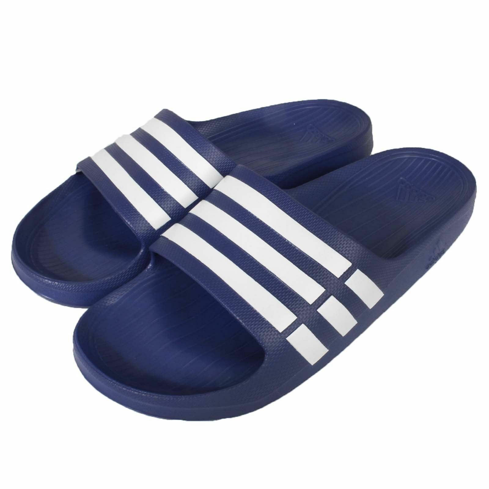 Adidas Duramo Mens Slides Sandals Flip Flops Beach Wear bluee Size US 10 NEW