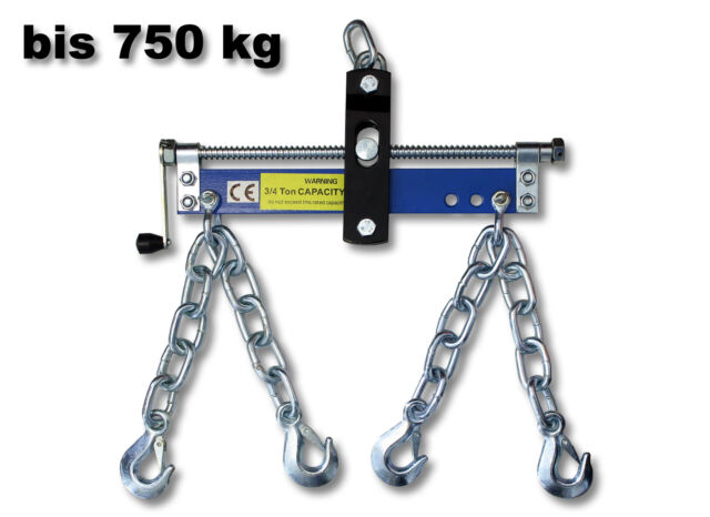 1600lb 750kg Engine Crane Hoist Lift Leveller Chain Load Garage Loading Balancer