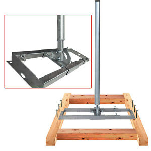 Dachsparrenhalter-Sat-Halter-95-cm-Rohr-60mm-Robust-fuer-Sat-Anlage-bis-100cm-HQ