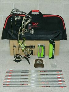 """LEFT Hand Hoyt Carbon RX-3 Bow Package- 50 to 60 lb- REDWRX -RX3 - 27"""" to 30"""" DL"""