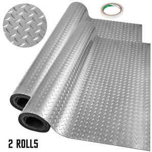 Vinyl Floor Covering Garage Flooring Mat Gym Floor Protector 7.8x1.1Mx2(Roll)