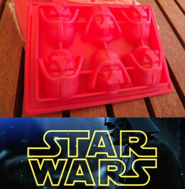 Star Wars DARTH VADER Ice Cube Tray Silicone Cake Topper Soap Chocolate Mould