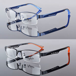 784471656896 TR90 Men s Sports Fashion Half rimless Eyeglass Frames Optical ...