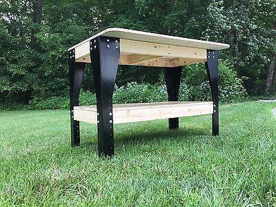 DIY Custom Workbench Wooden Shelf Garage Shop Workshop Table Bench Kit Raw Steel
