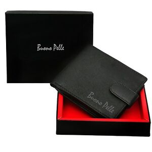 RFID-SAFE-MENS-DESIGNER-REAL-LEATHER-WALLET-With-LARGE-Zip-Coin-Pocket-Pouch