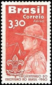 BRAZIL-1960-Scouting-MNH-Air-Mail-Stamp-Sc-C101