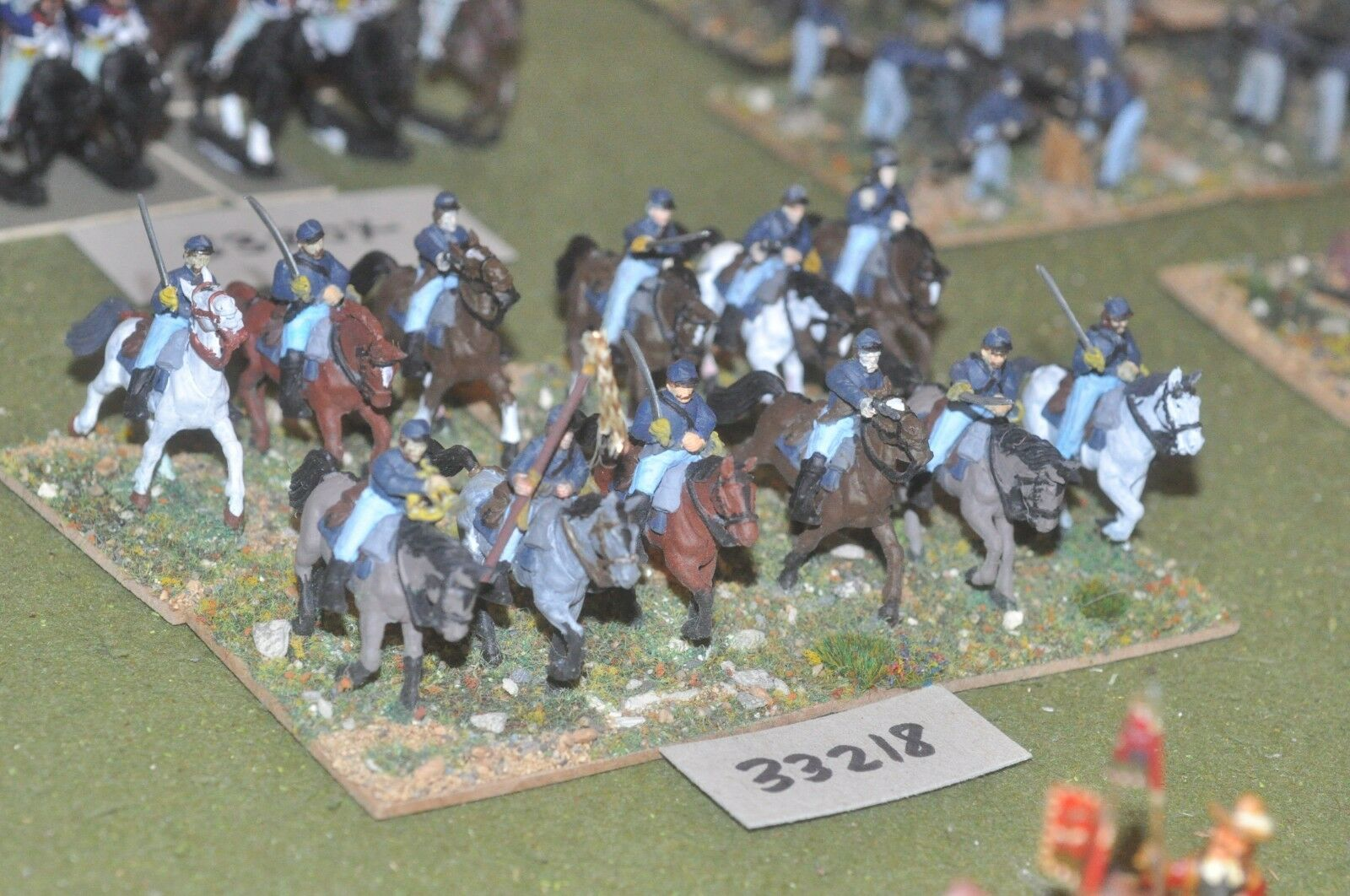 25mm ACW   union - regiment (plastic) 12 figures - cav (33218)