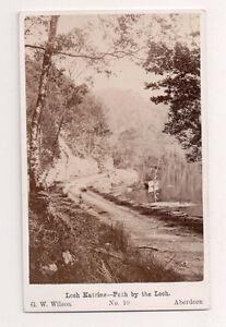 Vintage-CDV-Path-by-Loch-Katrine-Scotland-G-W-Wilson-Ph-Aberdeen