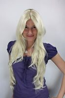 Wig Platinum Blonde Very Long Waved Wig Middle Part 75cm 3216-613