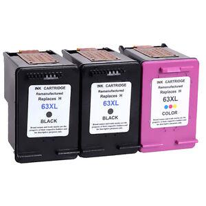 3 PK Compatible Ink Cartridges for HP 63XL Deskjet 1110 ...