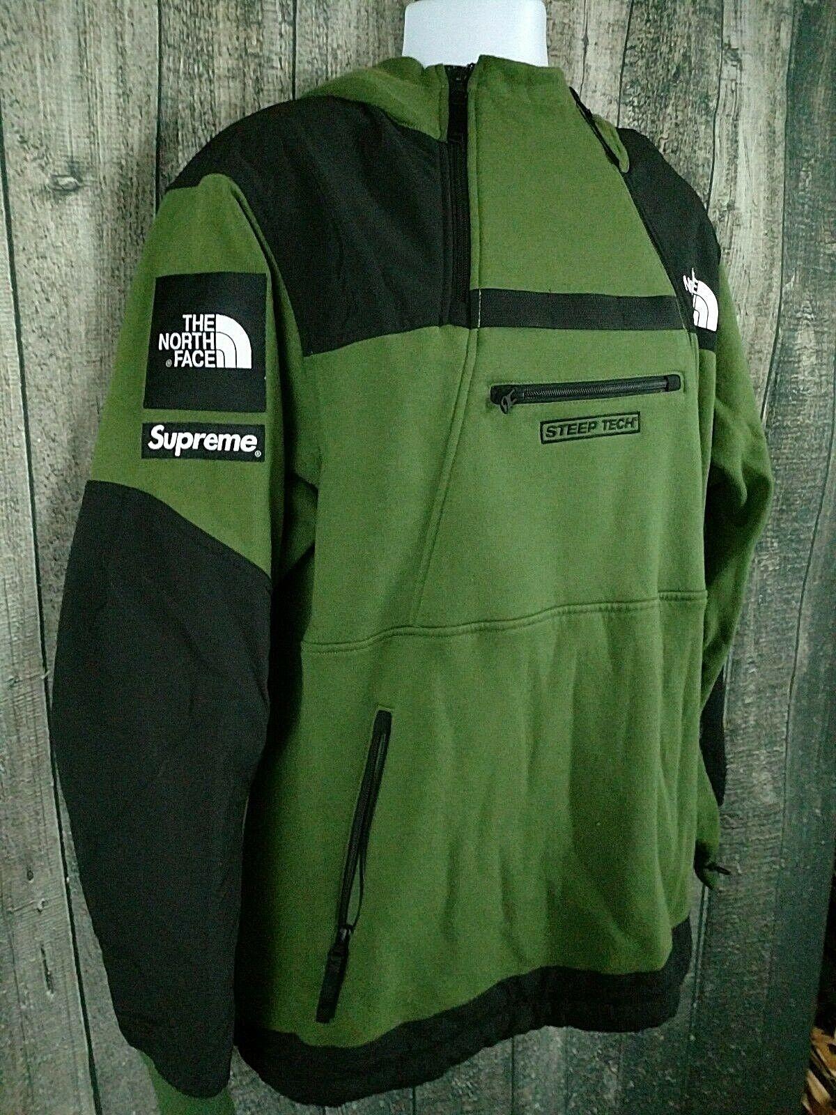 4e34723e2 Supreme X The North Face Steep Tech Hooded Sweatshirt Olive Green Sz XL