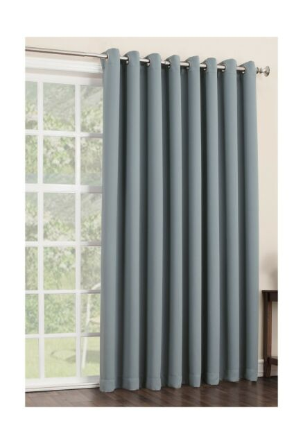 Sun Zero Easton Extra Wide Blackout Patio Curtain Panel 100 X 84