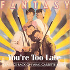 You're Too Late by Fantasy (Club/Dance) (CD, Nov-1994, Hot Productions)