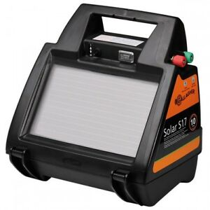 SOLAR-S17-ELECTRIC-FENCE-ENERGISER-Gallagher-Panel-Battery-Included