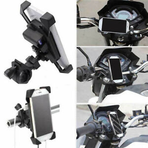 Motorcycle-Charger-Cell-Phone-Mount-Holder-Clamp-With-Usb-Charger-Atv-Gps-Hol-GF