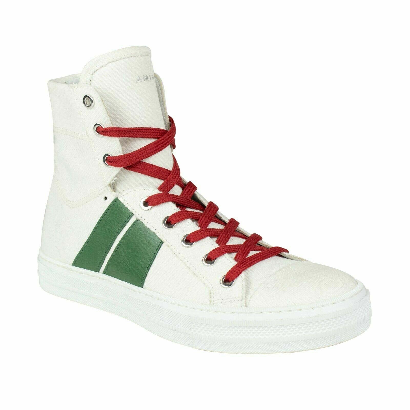 NIB AMIRI 'Sunset' bianca Canvas And Leather scarpe da ginnastica scarpe Dimensione 9 US 42 EU  550