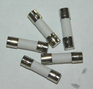 """(5) 5A 250V 5X20mm (3/16""""x3/4"""") SLOW BLOW Ceramic Fuse Fast - 1st Class Shipping"""