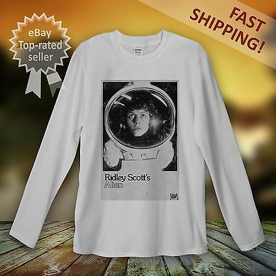 Alien Predator Long Sleeve T-shirt Men Women Sigourney Weaver Ridley Scott Movie Rheuma Lindern