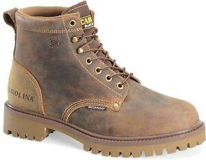 NIB-Carolina-CA7558-Men-039-s-6-Inch-ST-Waterproof-Old-Town-Folklore-Work-Boots