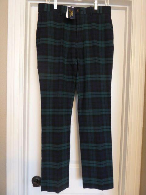 Polo Ralph Lauren Sullivan Slim Stretch Blackwatch Tartan Plaid Jeans NWT $245