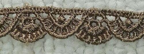 Blonda a mano Encaje 1.2CM/'S De Ancho Aprox. 2 metros por 1.50 € Mocha Crochet Trim