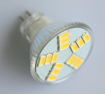 2x MR11 GU4 Socket 15-SMD 5630LED Light Lamp Bulb Home Office Warm White 320LM