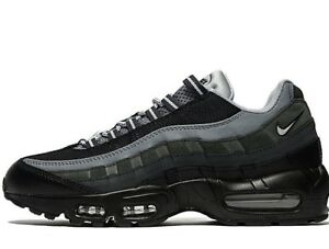 Authentic Nike Air Max 95 Uomo Essential Taglia UK 7 EUR 41 Nero Antracite