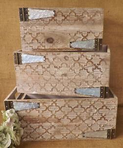 Natural-amp-Grey-Vintage-Hinge-Patterned-Wooden-Display-Storage-Box-Crate-3-Sizes