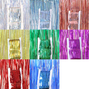 1-4M-Tinsel-Curtain-Backdrop-Fringe-Curtain-Party-Decor-Glitter-Shimmer-Curtain