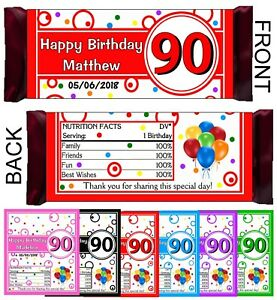 picture relating to Free Printable Birthday Candy Bar Wrappers known as Information and facts regarding 90th BIRTHDAY Occasion FAVORS Sweet BAR WRAPPERS