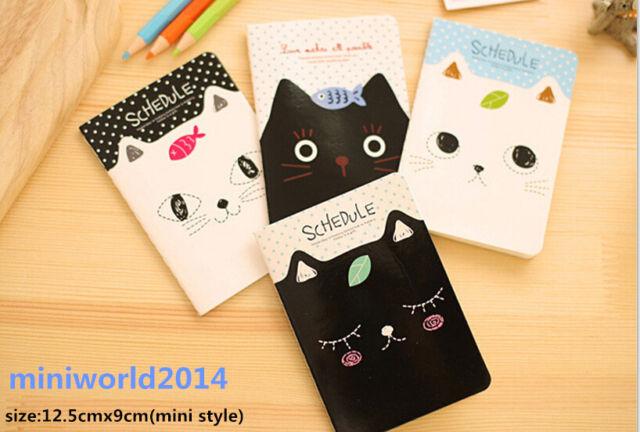 4 PCS Korean Stationery Cute Lovey Cats Mini Diary/Notepads/Notebooks