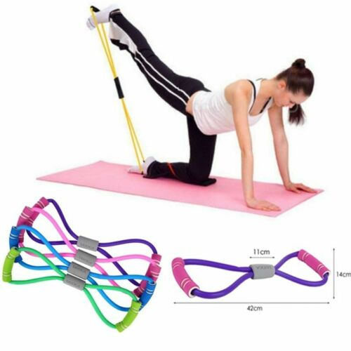 Yoga Gum Fitness Resistance 8 Word Chest Expander Rope Workout Muscle Fitness On