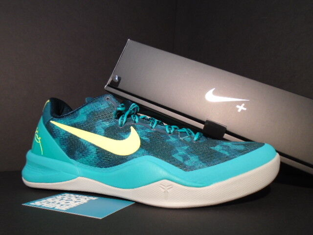 Nike Zoom KOBE VIII 8 SYSTEM+ SPORT PACK SUPERNATURAL ATOMIC TEAL YELLOW NEW 10