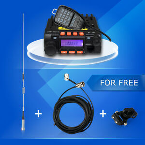 New-MP-300-20W-MINI-Moblie-VHF-amp-UHF-Transceiver-Car-Radio-MP300-Antenna-folder