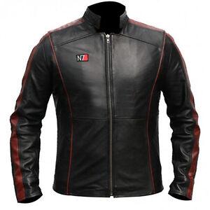 Mass Effect 3 in vera Elegante 100 Shepard N7 pelle giacca Commander xpP4Zx