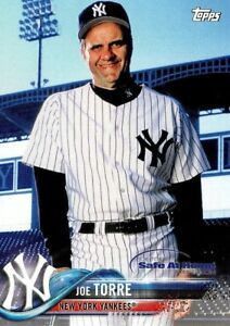 Details About Joe Torre New York Yankees 2018 Topps Special Safe At Home Baseball Card
