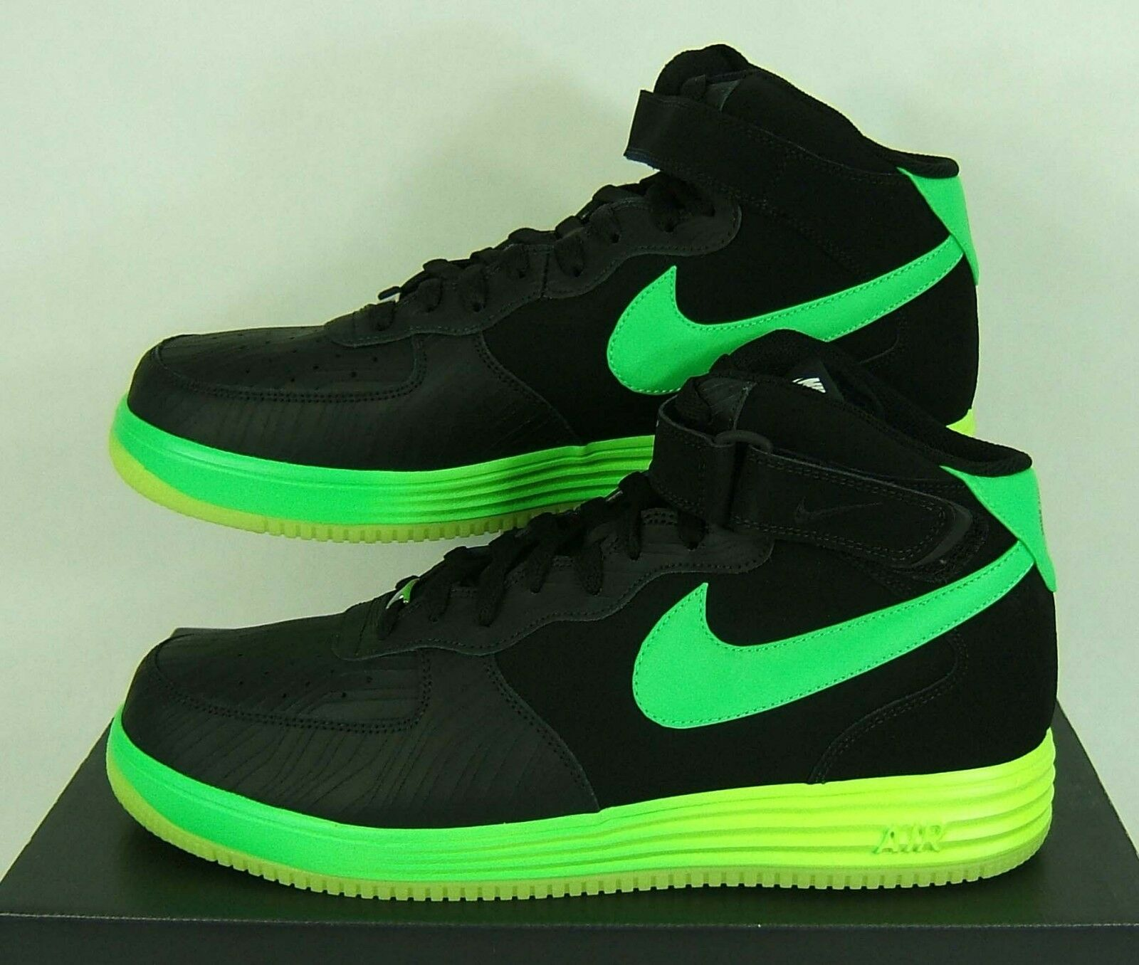 The latest discount shoes for men and women New Mens 14 NIKE Lunar Force 1 LTHR Leather Black Mid Shoes Price reduction