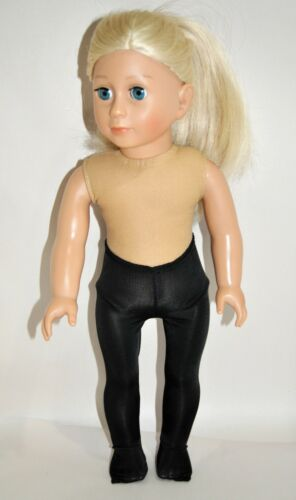 """American Girl Doll Our Generation Journey 18/"""" Dolls Clothes Black Lycra Tights"""