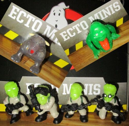 Ghostbusters Ecto minis classique Peter Ray Egon Winston Zuul GITD variante Set 6