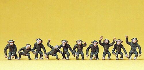 Preiser 20388 H0 handbemalt 10 Figuren Affen