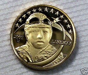 2001-D-Bessie-Coleman-Golden-Dollar-Concept-Coin-Reverse-without-034-Peace-034