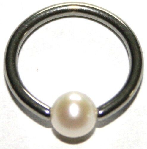 intima con Perla pecho Piercing Titan anillo bcr oreja