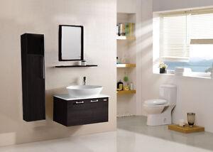 Mobile bagno arredo bagno completo wenge cm colonna lavabo