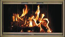 Champagne Nickel Fireplace Glass Doors for Heatilator fireplaces HE36-FS2