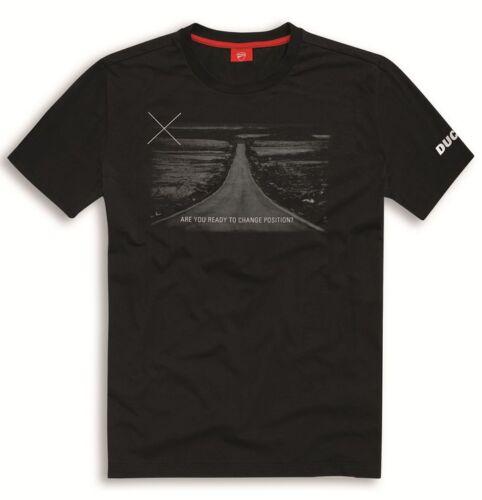 Shirt für Herren in schwarz Ducati Graphic Art Horizon T