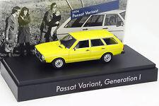 Volkswagen VW Passat Variant I. gène. 1974 jaune 1:43 Minichamps