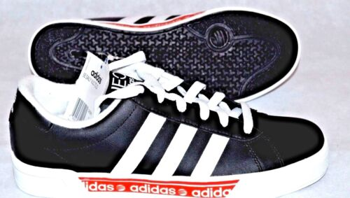 ADIDAS SE DAILY VULCAN TRAINERS BLK//WHT BNIB ADULT UK  7 1//2 TO 8.5  RRP £50
