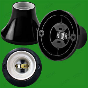 Remarkable Edison Screw Black Batten Ceiling Lamp Holder Fitting Es E27 Light Wiring 101 Tzicihahutechinfo