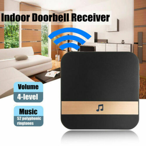 Wireless WiFi Doorbell Chime Ding-Dong Visual Door Bell Receiver UK EU US Plug