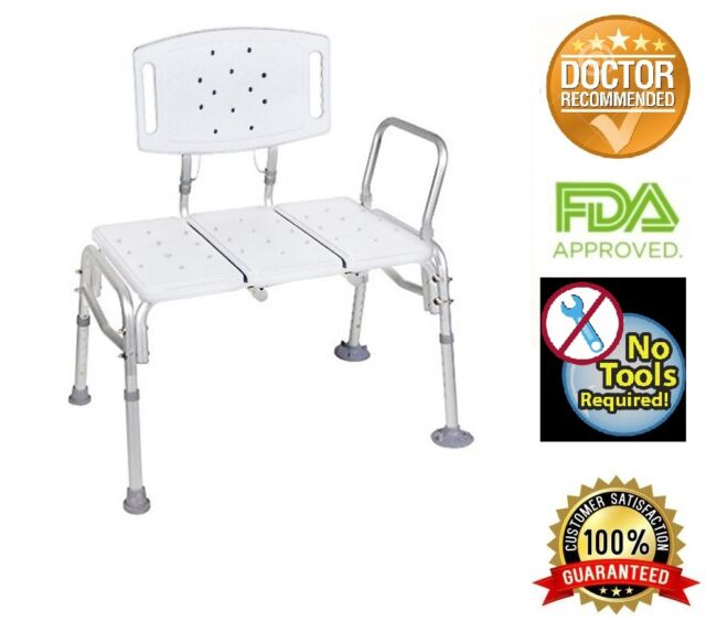 Enjoyable Transfer Bench Adjustable Height Heavy Duty Bariatric 500 Lb Plastic Seat With Dailytribune Chair Design For Home Dailytribuneorg